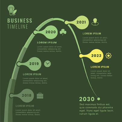 Free Green Business Infographic Template - Dark