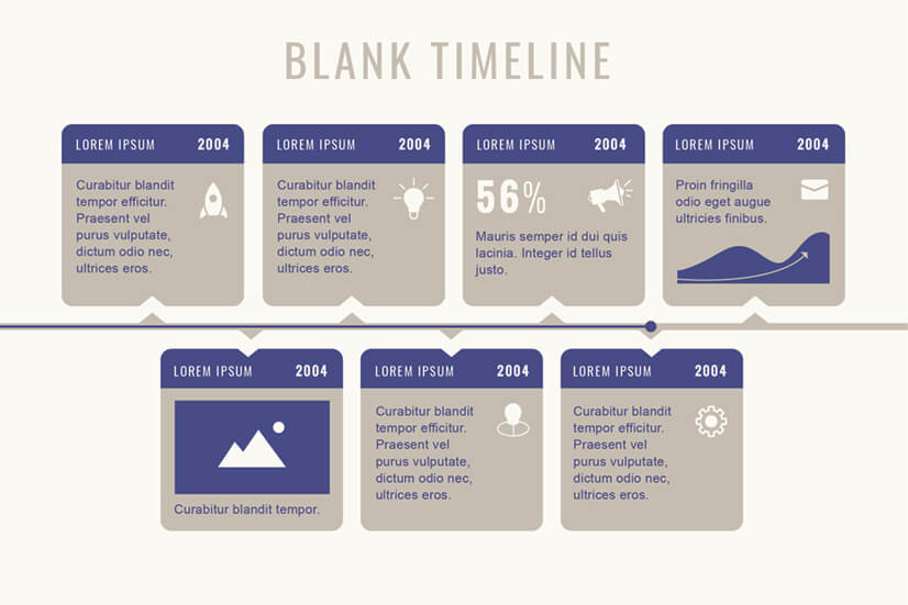Free Blank Timeline Infographic Template Design