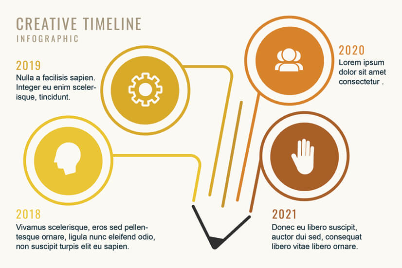 Creativity Timeline Infographic Template