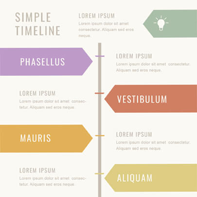 Minimalist Timeline Progress Infographic Template