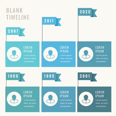 Free Timeline Infographic Template with Flags - Light