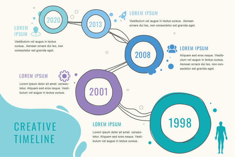 Free Abstract Timeline Infographic Template