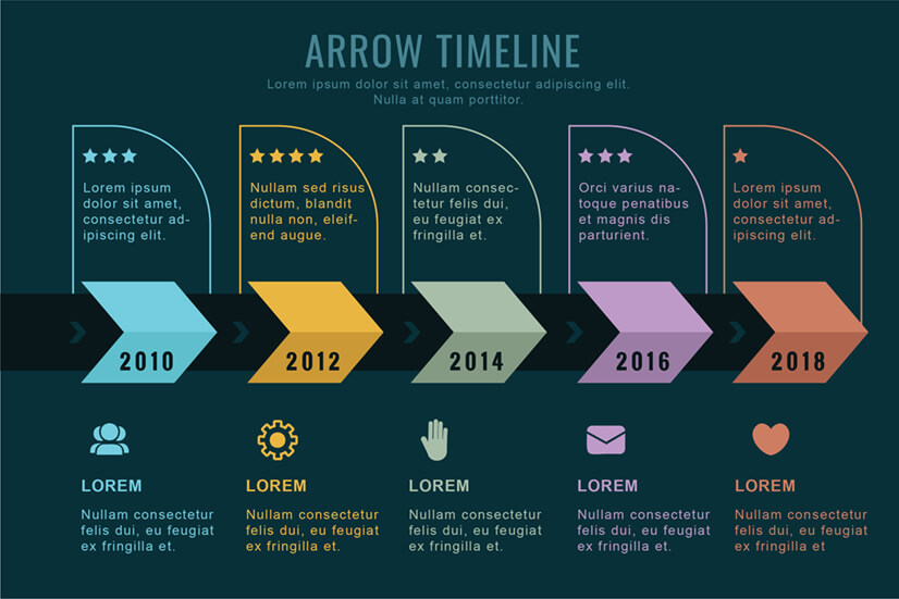 Professional Timeline Infographic Template with Ratings