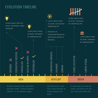 Free Project Timeline Infographic Template - Dark