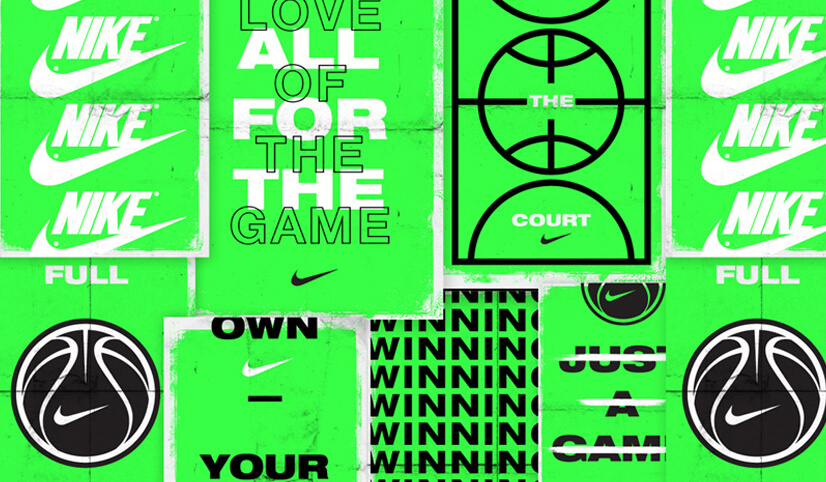 Nike graphic designs with Extremely vivid colors