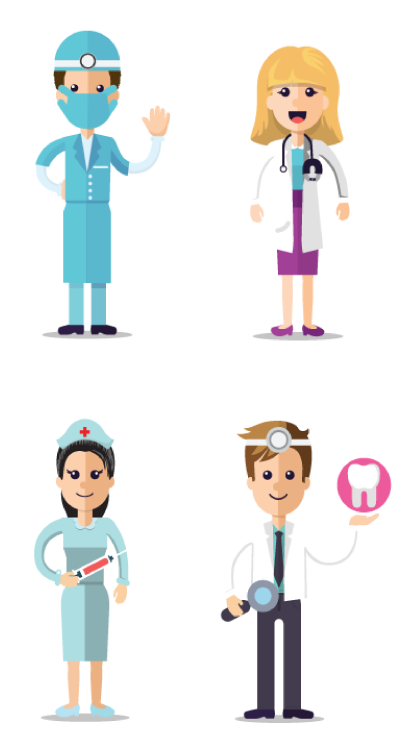 medical infographic maker by GraphicMama:: characters