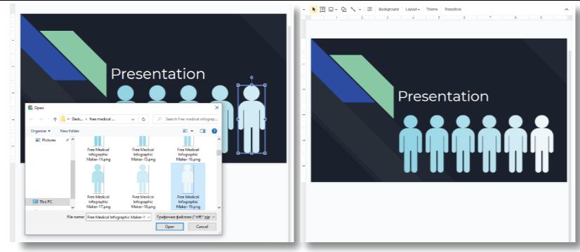 medical infographic maker by GraphicMama: GoogleSlides presentation