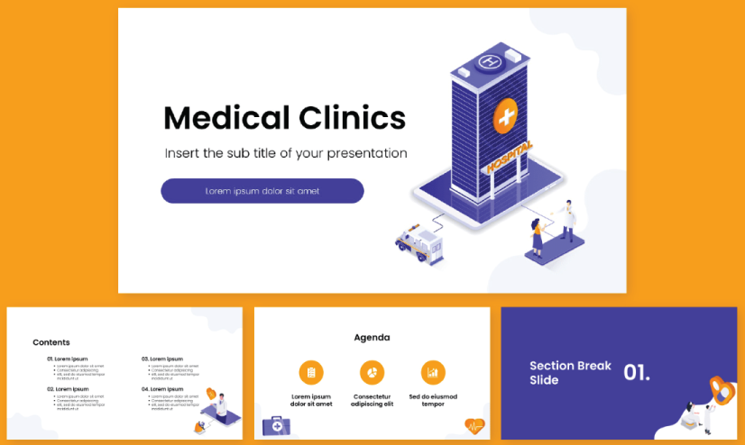 free medical PowerPoint templates medical clinics