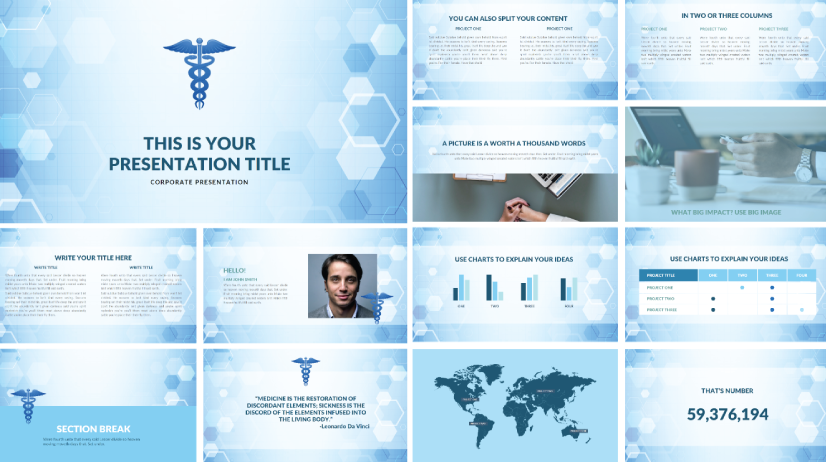 Free Corporate Medical Presentation Template
