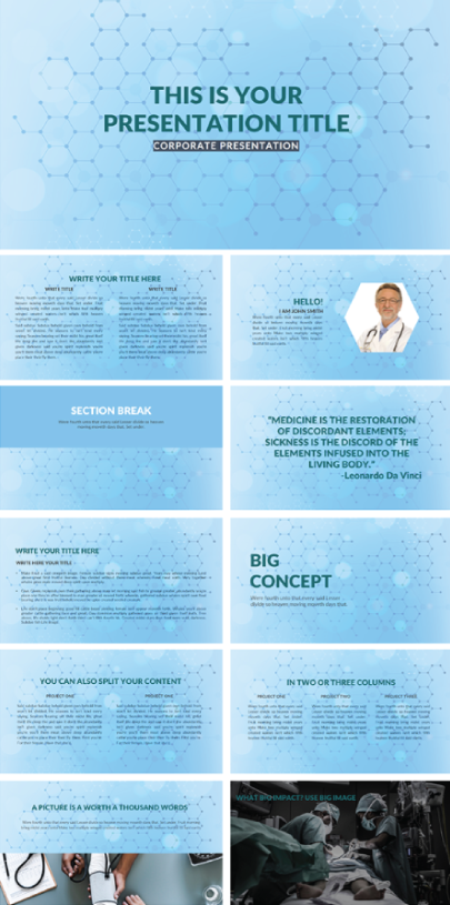 Conceptual Medical Presentation Template