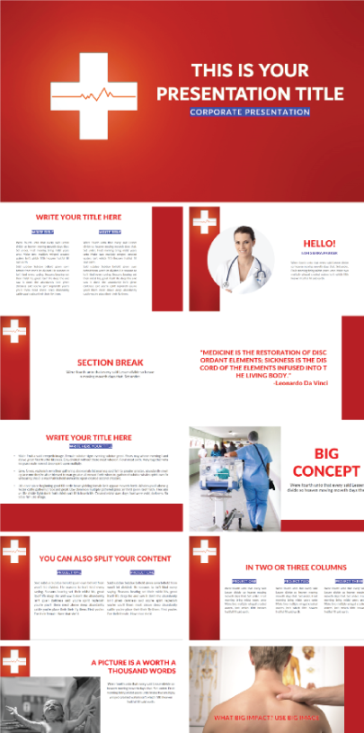 Free Red Cross Presentation Template