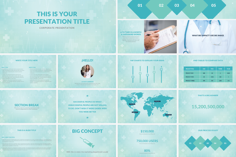 Free Hospital Medical PowerPoint Presentation Template