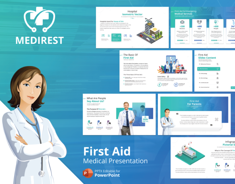 Free Medirest Healthcare PowerPoint Template