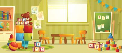kindergarten room character animator background