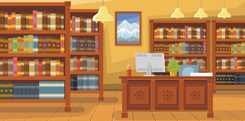 library character animator background