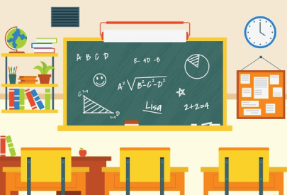 elementary school math classroom character animator background