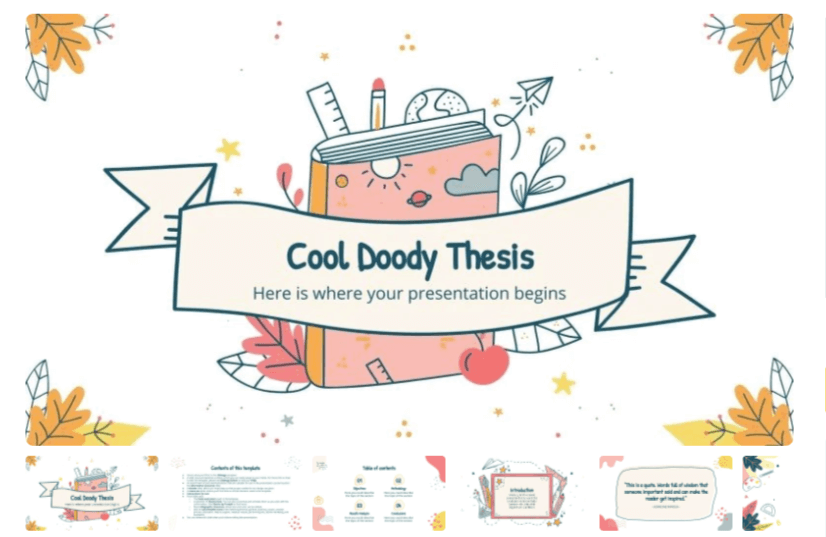 Free Cool Doodles PPT Presentation Template
