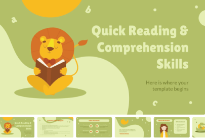 Free Reading and Comprehension Skills PPTTemplate