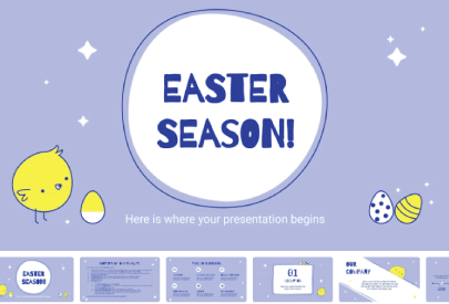 Free Cute Easter Presentation Template