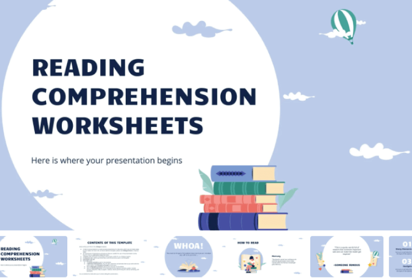 Free Cute PowerPoint Template with Books