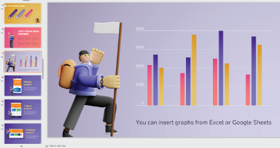 Free Cute 3D Characters PowerPoint Presentation