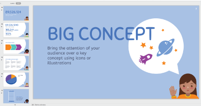 Free Presentation with Cute Kids Characters