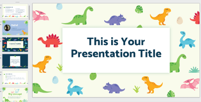 Free Cute Dinosaurs PPT Template