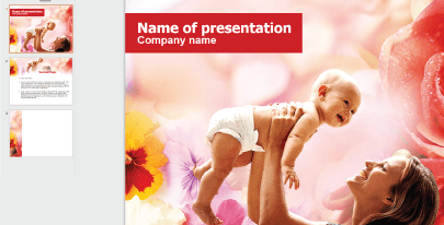 Free Cute Mom and Baby PPT Template