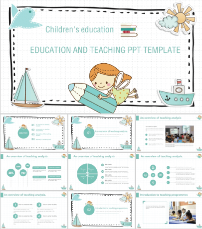 Free Education PowerPoint Template with a Cute Fairy