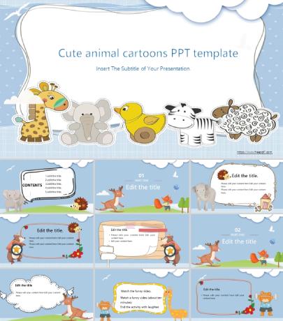 Free Sweet Little Animals Presentation Template
