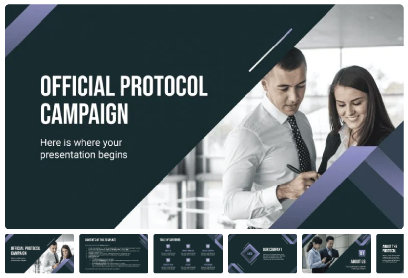 Free Official Protocol Campaign Presentation Template