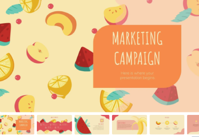Fruits Marketing Campaign Free PowerPoint Template