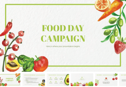 Food Campaign Free PowerPoint Presentation Template