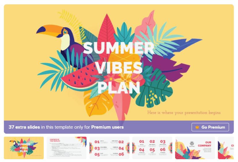 Free Summer Marketing Presentation Template