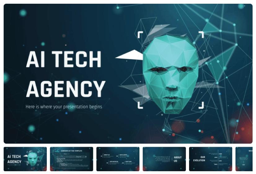 Free AI Tech Agency Presentation Template