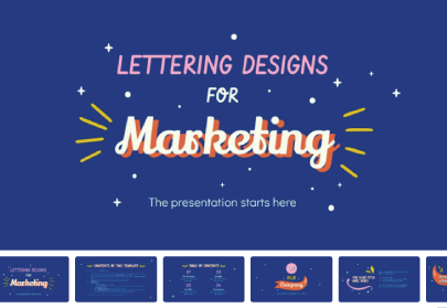 Free Lettering for Marketing Presentation Template