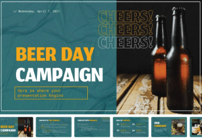 Free Drinks Campaign Presentation Template