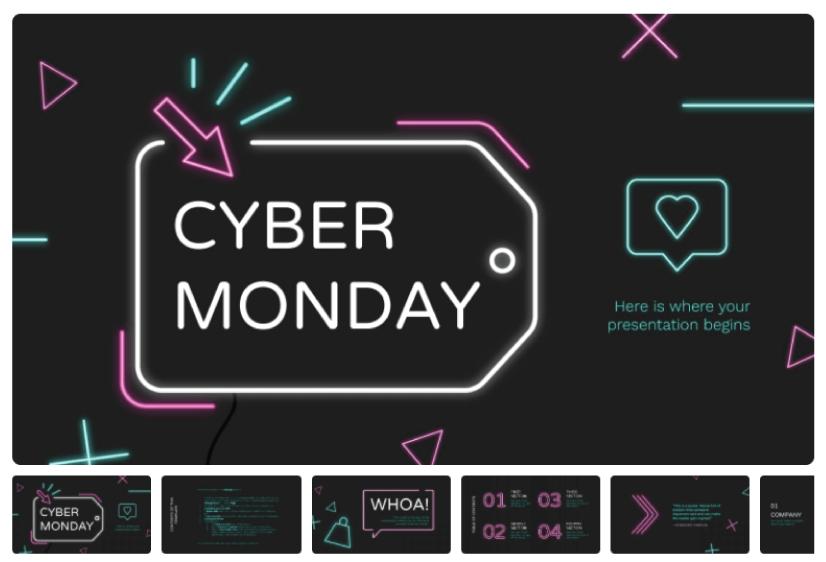 Free Cyber MondayCampaign Presentation Template