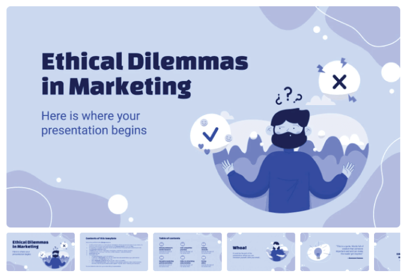 Free Ethical Marketing Presentation Template