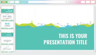 Free Colorful StatsMarketing Presentation Template