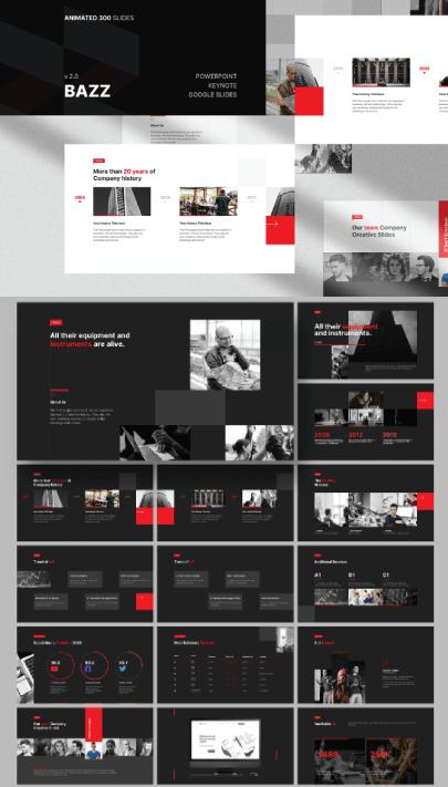 Free Dark Multipurpose PresentationTemplate