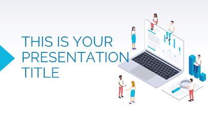 Free Blue Marketing Presentation Template