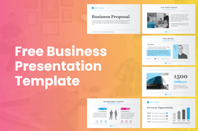Free Business PowerPoint Marketing Presentation Template by GraphicMama