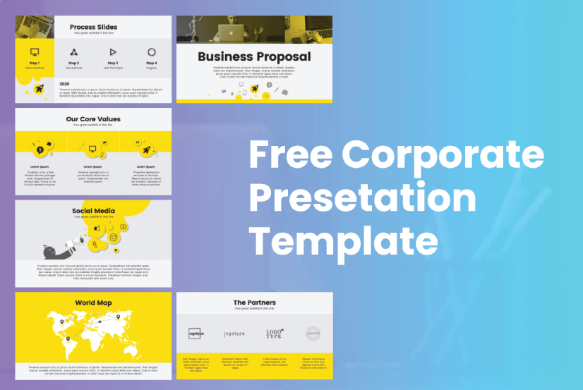 Free Corporate Presentation Template by GraphicMama