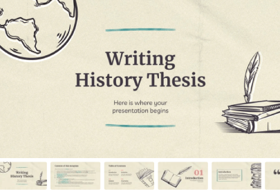 Writing History Thesis free education powerpoint template
