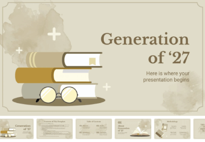 Generation of '27 free education powerpoint template