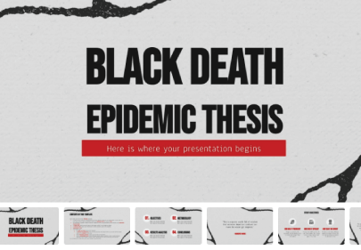 Black Death Epidemic Thesis free education powerpoint template