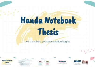 Handa Notebook Thesis free education powerpoint template