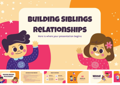 Building Siblings Relationship free education powerpoint templates