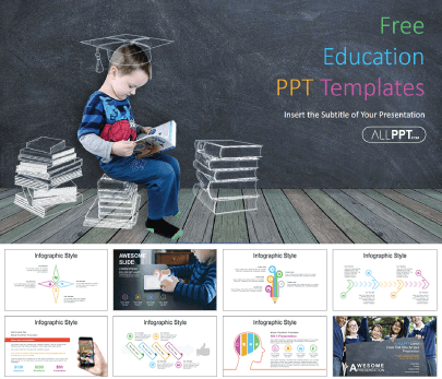 Chalk free education powerpoint template